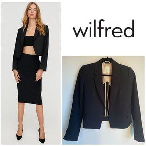 Aritzia Wilfred Cropped Black Open Blazer
